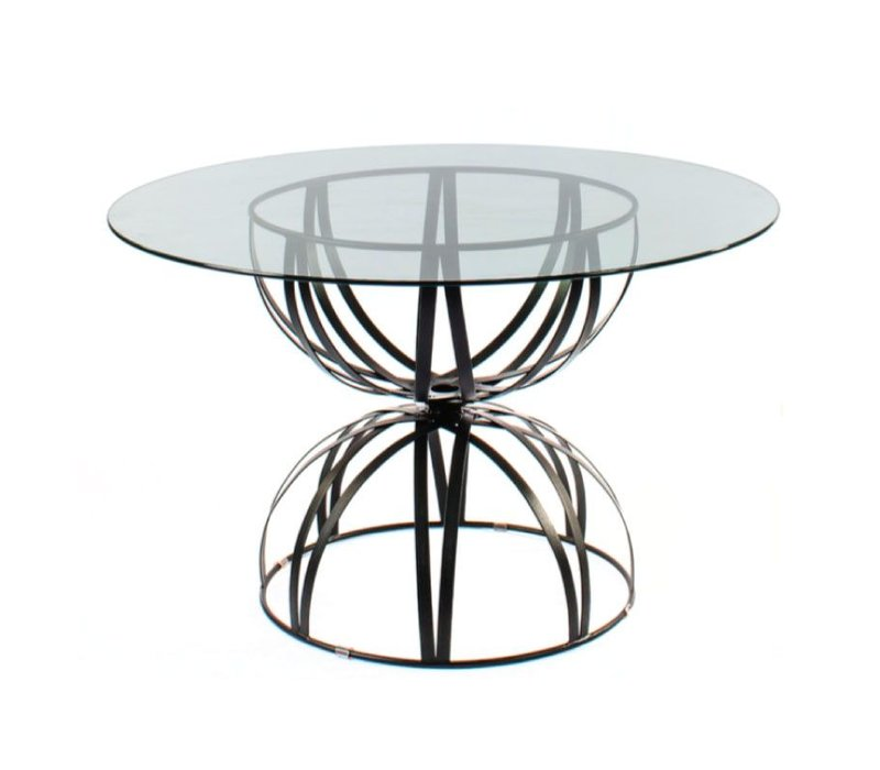HOURGLASS GRANDE 36 INCH ROUND TABLE BASE IN EPOXY COATED STEEL