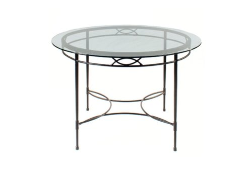 AMALFI LIVING 64 INCH ROUND DINING TABLE BASE IN EPOXY COATED STEEL