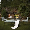 AMALFI LIVING HOST DINING CHAIR IN EPOXY COATED STEEL WITH CUSHIONS IN SUNBRELLA FABRIC