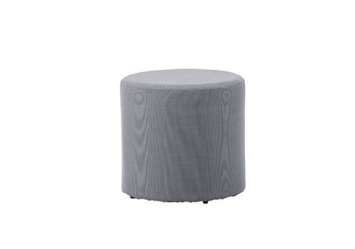 CANE-LINE REST SIDE TABLE/FOOTSTOOL IN GREY