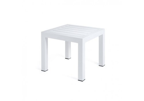 ECOWOOD 20x20 SIDE TABLE, POWDER COATED ALUMINUM FRAME