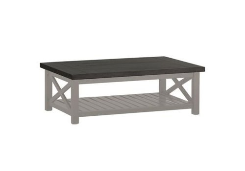 SUMMER CLASSICS CAHABA 47x32 COFFEE TABLE OYSTER BASE WITH SLATE GRAY TOP