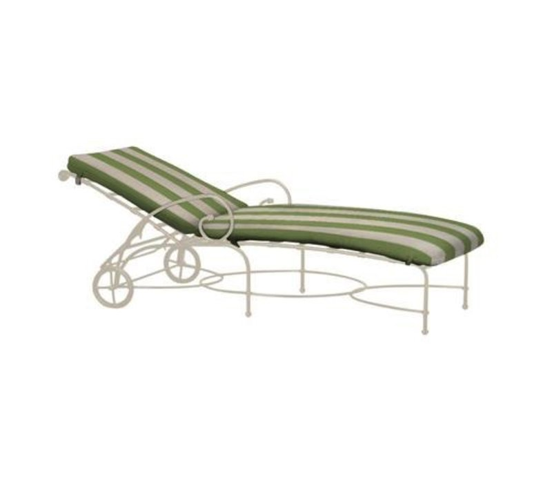 FLORENTINE ADJUSTABLE CHAISE WITH WHEELS AND GRADE A FABRIC