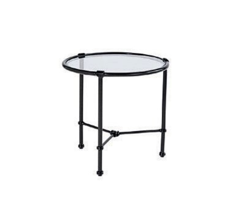 FLORENTINE 19 ROUND OCCASIONAL TABLE WITH GLASS TOP