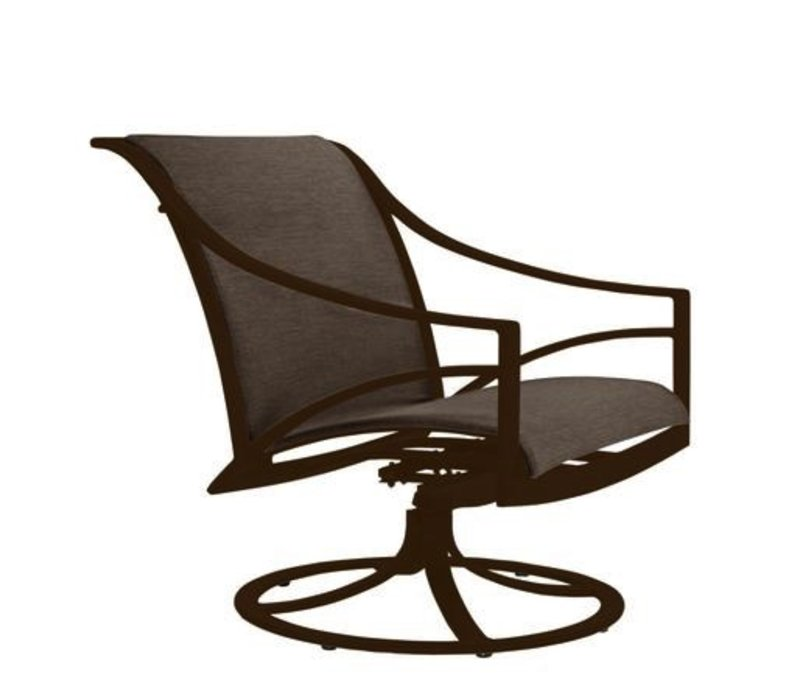 PASADENA SLING SWIVEL MOTION LOUNGE CHAIR WITH GRADE A SLING