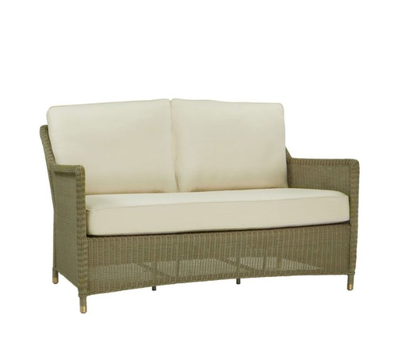 SOUTHAMPTON LOVESEAT IN SAGE WITH 4 SQUARE BACK PILLOWS AND 1 SEAT CUSHION IN GRADE A FABRIC