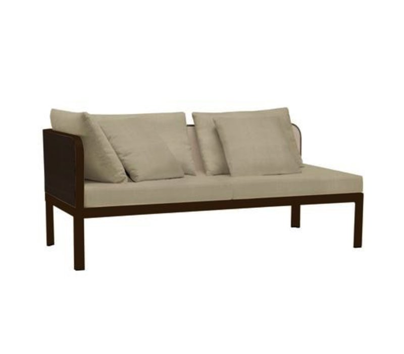CONNEXION LEFT ARM CHAISE WITH GARDE A FABRIC / 3 RECT. PILLOWS / 2 SQ. PILLOWS