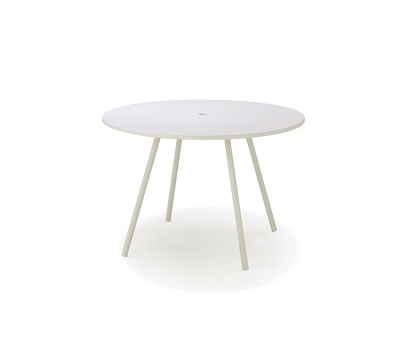 AREA 43 INCH ROUND ALUMINUM DINING TABLE IN WHITE