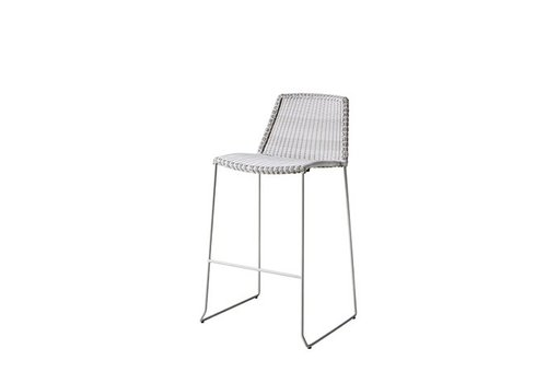 CANE-LINE BREEZE BAR CHAIR IN WHITE CANE-LINE FIBRE