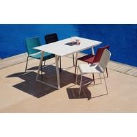 COPENHAGEN 55x31 DINING TABLE IN WHITE ALUMINUM