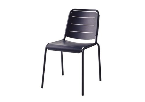 CANE-LINE COPENHAGEN CITY CHAIR IN MIDNIGHT BLUE ALUMINUM / SOLD IN SETS OF 2 ONLY