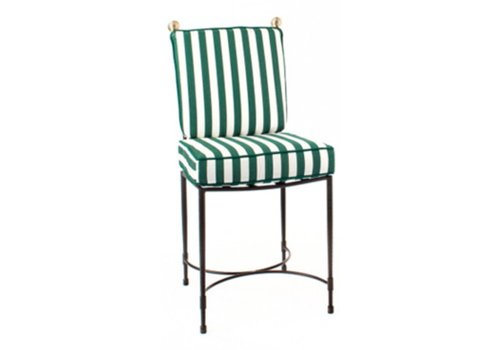 AMALFI LIVING HOST SIDE CHAIR LARGE IN POWDER COATED STAINLESS STEEL FRAME