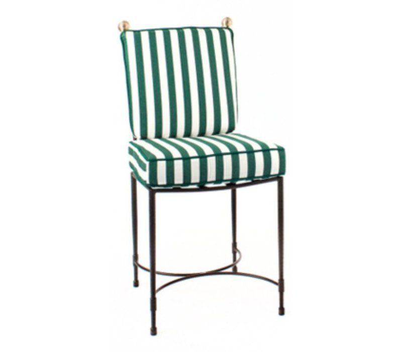HOST SIDE CHAIR LARGE IN POWDER COATED STAINLESS STEEL FRAME