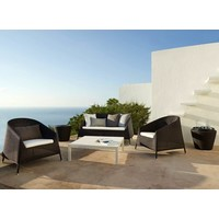 KINGSTON LOUNGE CHAIR IN MOCCA CANE-LINE FIBRE