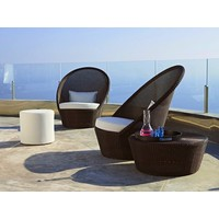 KINGSTON SUNCHAIR WITH WHEELS IN MOCCA, CANE-LINE FIBRE