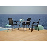 NEWPORT ARM CHAIR IN BLACK, CANE-LINE FIBRE