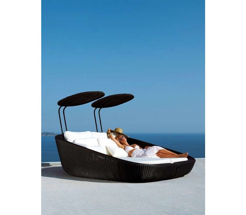 SAVANNAH DAYBED RIGHT MODULE IN BLACK, CANE-LINE FIBRE