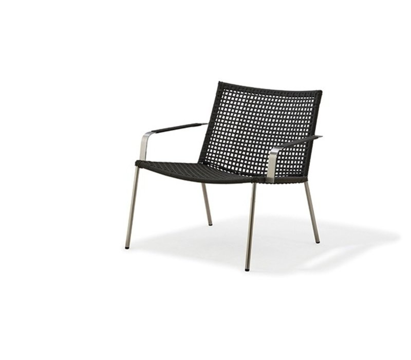 STRAW LOUNGE CHAIR IN ANTHRACITE, CANE-LINE ROPE