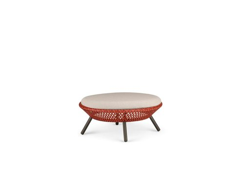 DEDON AHNDA FOOTSTOOL / COFFEE TABLE IN ELEMENTAL WEAVE