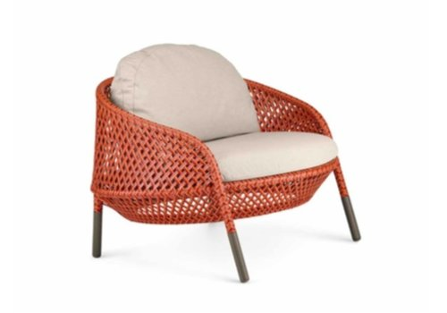 DEDON AHNDA LOUNGE CHAIR IN ELEMENTAL WEAVE