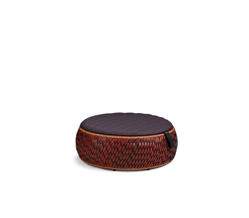 DALA 38 INCH FOOTSTOOL/COFFEE TABLE IN COLOR FIRE