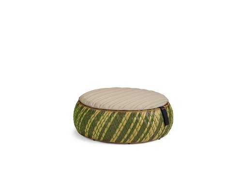 DEDON DALA 38 INCH FOOTSTOOL/COFFEE TABLE IN COLOR GRASS