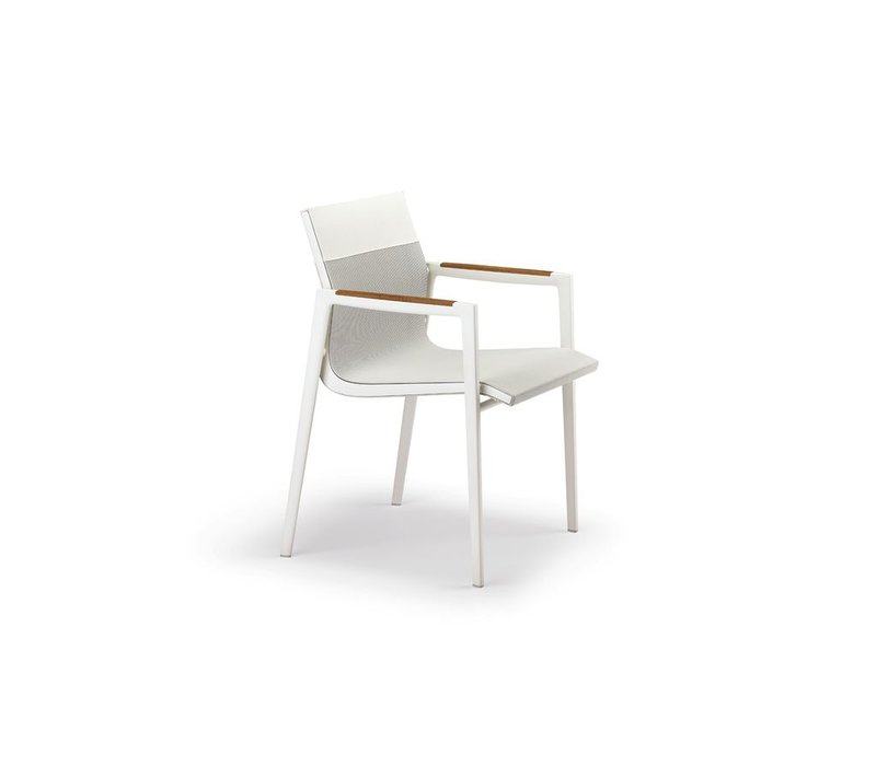 DEAN ARMCHAIR - PEARL GREY AND WHITE