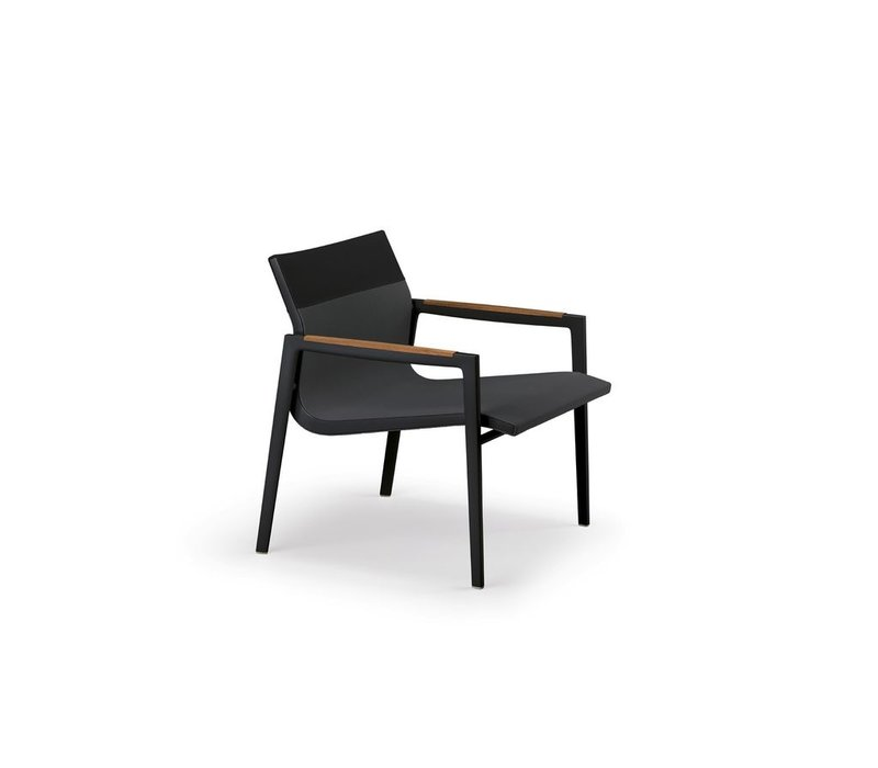 DEAN LOUNGE CHAIR - ANTHRACITE AND BLACK
