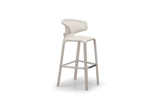DEDON SEASHELL BARSTOOL IN CHALK