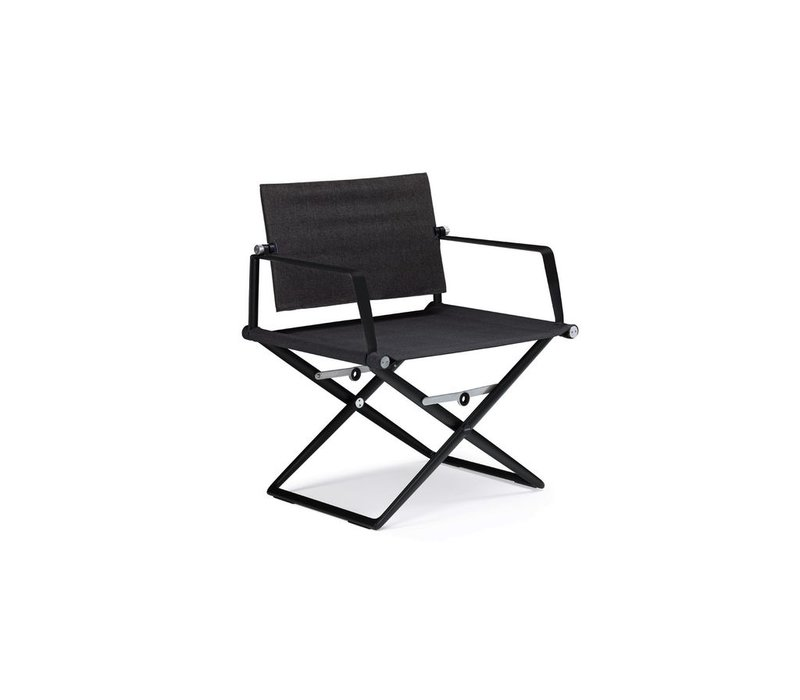 SEAX LOUNGE CHAIR / BLACK FRAME / TAUPE TEXTILE
