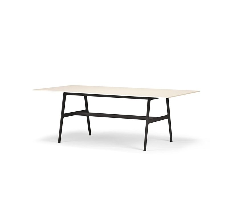 SEAX 39x87 DINING TABLE WITH  BLACK FRAME AND WHITE TOP