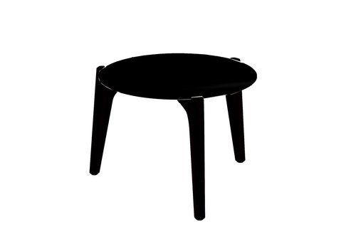 ROYAL BOTANIA TEA TIME 16 INCH ROUND LOW SIDE TABLE / ANTHRACITE COATED ALUMINUM / BLACK CERAMIC TOP