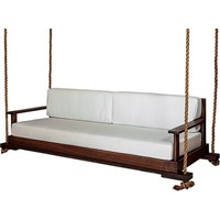 93 INCH HURSTON PORCH SWING EUCALYPTUS FRAME W/ SEAT AND BACK CUSHION
