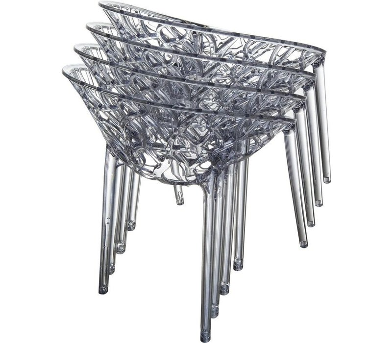 CRYSTAL CHAIR - TRANSPARENT GRAY