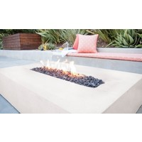FLO BIOETHANOL FIRE TABLE IN BONE COLOR
