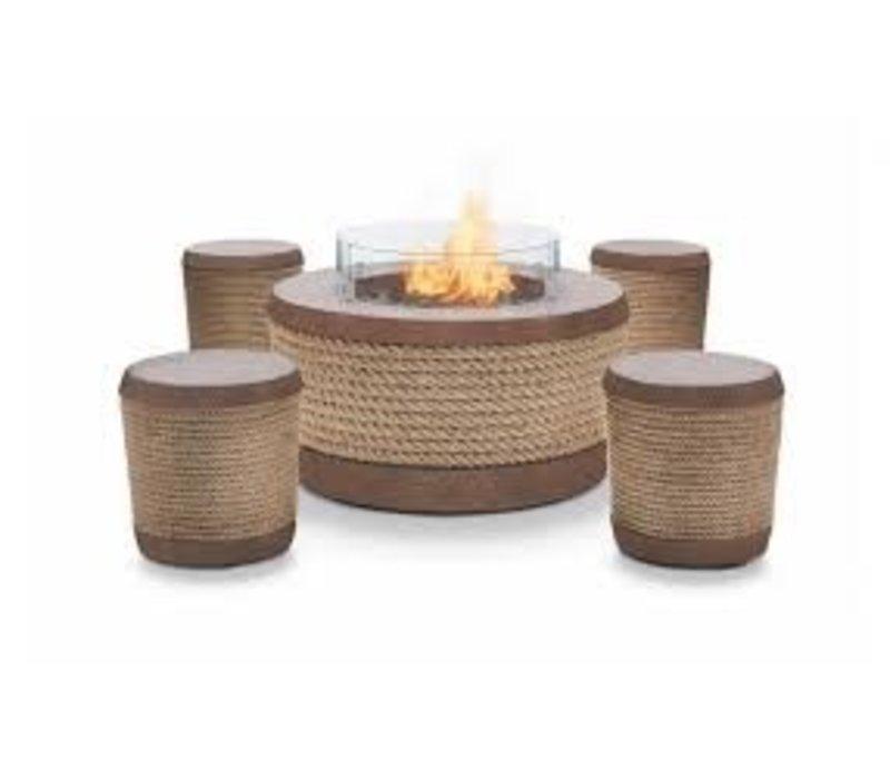 LOOP STOOL OR SIDE TABLE - RUST
