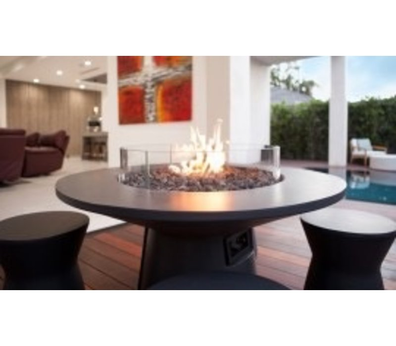 MESA BIOETHANOL FIRE TABLE IN GRAPHITE