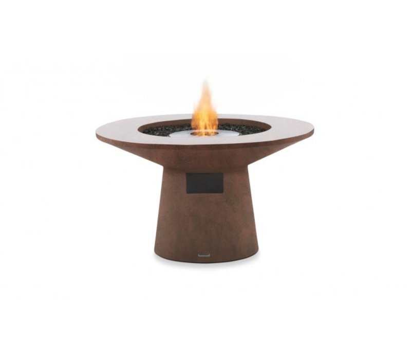 MESA BIOETHANOL FIRE TABLE IN RUST