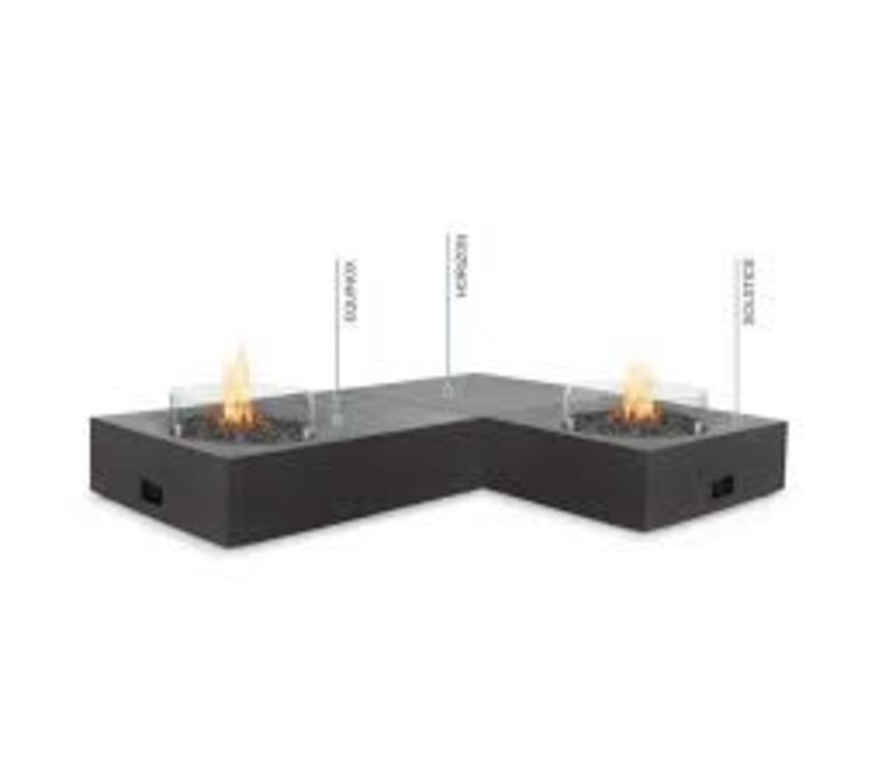 SOLSTICE BIOETHANOL FIRE TABLE IN GRAPHITE