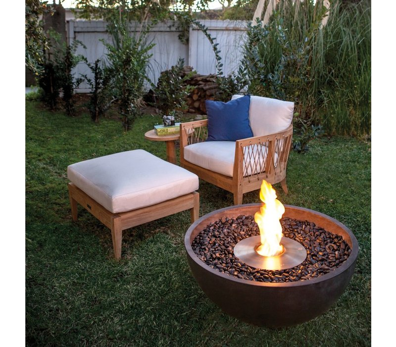 URTH BIOETHANOL FIRE PIT IN RUST