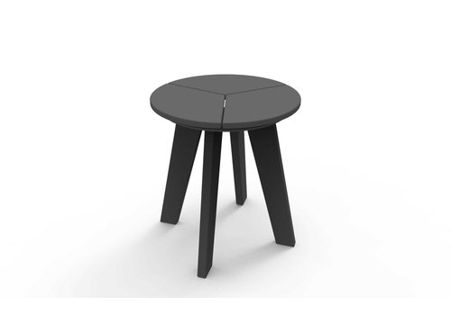 SEASIDE CASUAL DEX ROUND SIDE TABLE - CHARCOAL