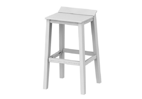 SEASIDE CASUAL SYM BAR STOOL - WHITE