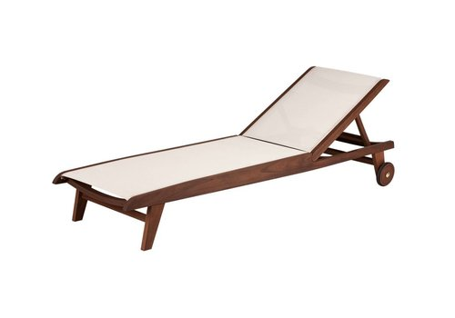 JENSEN LEISURE FURNITURE TOPAZ SLING CHAISE LOUNGE - NATURAL SLING