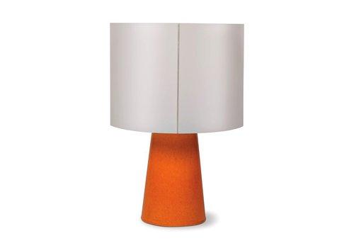 SEASONAL LIVING INDA COPENHAGEN CERAMIC CORDLESS OUTDOOR LED TABLE LAMP - ORANGE