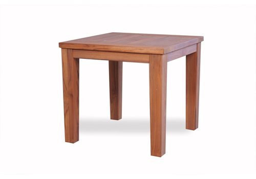 LLOYD FLANDERS TEAK 24x24 END TABLE WITH TAPERED LEG