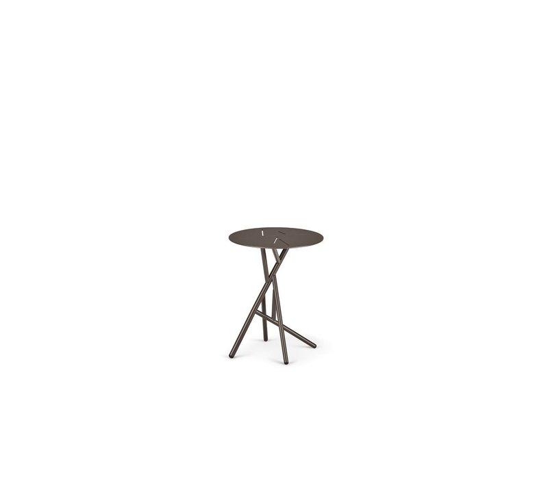 MANGROVE SIDE TABLE IN BLACK PEPPER