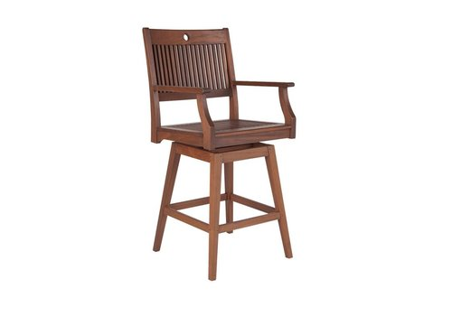 JENSEN LEISURE FURNITURE OPAL SWIVEL HI DINING CHAIR - BAR HEIGHT