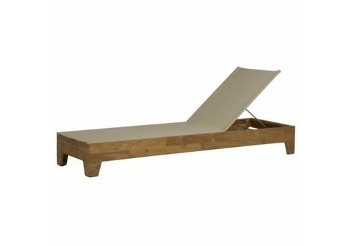 SUMMER CLASSICS RYAN CHAISE IN NATURAL TEAK  - optional cushion sold separately