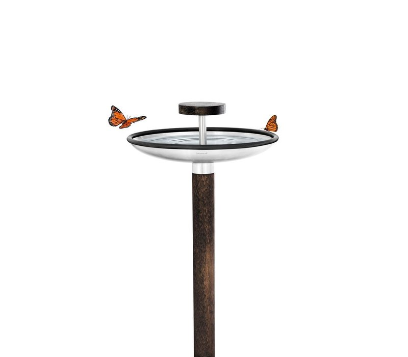 FUERA  BIRD FEEDER WITH BIRD BATH OPTION - WOOD POST