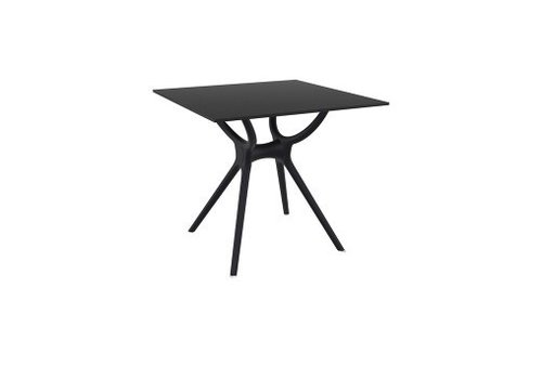 SIESTA AIR 31x31 DINING TABLE / BLACK BASE AND LEGS